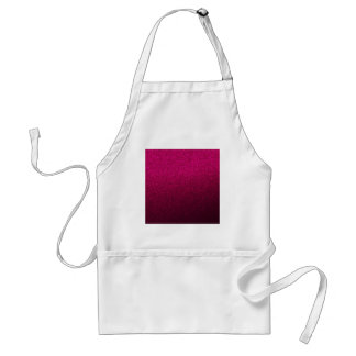 Customizable Pink Ombre Glitter Background Standard Apron