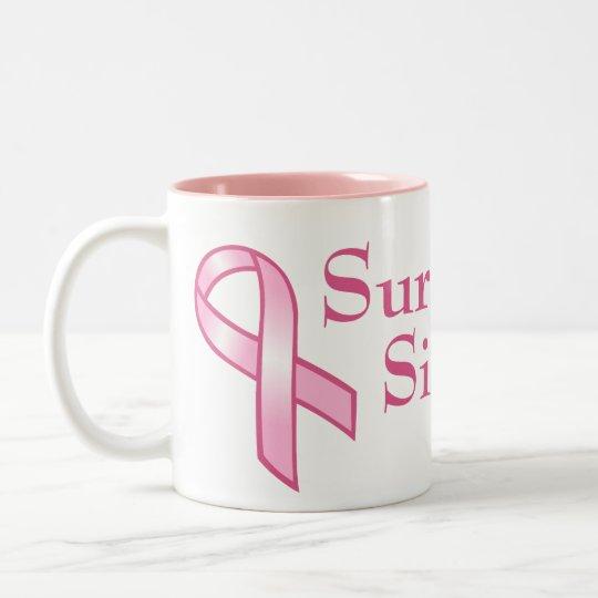 Customizable Pink Ribbon Mug