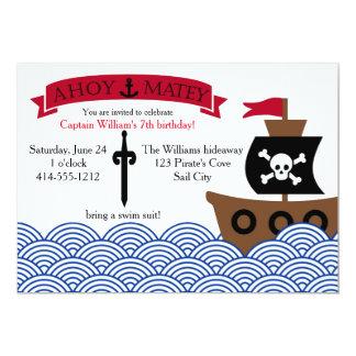 Customizable Pirate Birthday party invitation