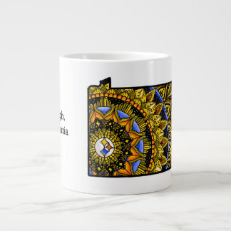Customizable Pittsburgh PA Colorful Jumbo Mug