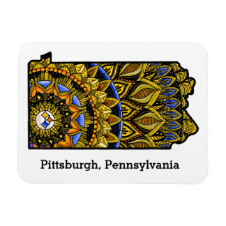 Customizable Pittsburgh Pennsylvania Magnet