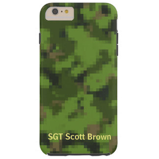 Customizable Pixelated iPhone Case Army Green