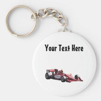 Customizable Plain Race Car Keychain