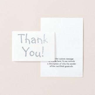 "Customizable & Plain ""Thank You!"" Card"