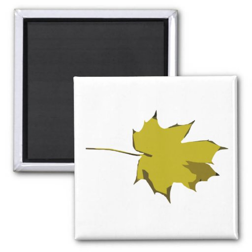 Customizable Plain Yellow and Green Fall Leaf Refrigerator Magnets