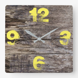 Customizable Plank Wood. Wallclock