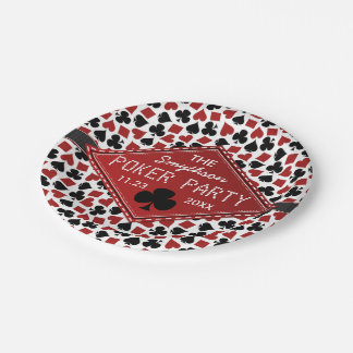 Customizable Poker Party Casino Paper Plate
