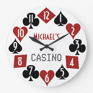 Customizable Poker Room Casino 2 Large Clock
