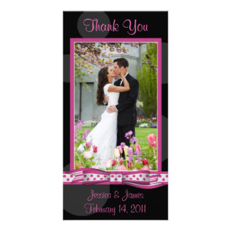 Customizable Polka Dot Photocard Card