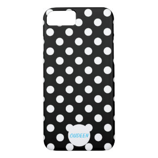 Customizable Polka Dots Black iPhone 7 Case