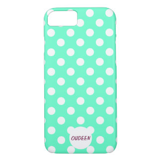 Customizable Polka Dots Mint iPhone 7 Case