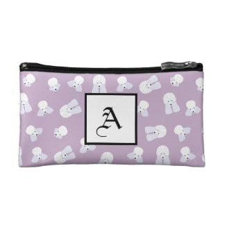 Customizable Poodle Cosmetic Bag