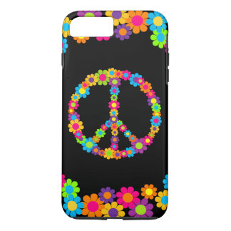 Customizable Pop Flower Power Peace iPhone 7 Plus Case