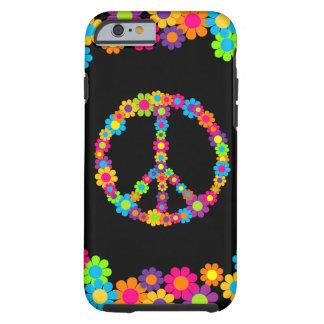 Customizable Pop Flower Power Peace Tough iPhone 6 Case