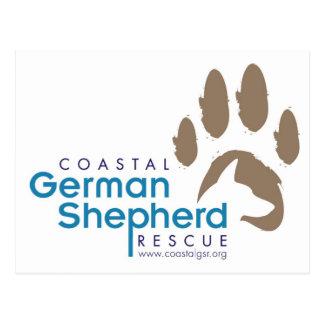 Customizable Postcard - Coastal German Shepherd