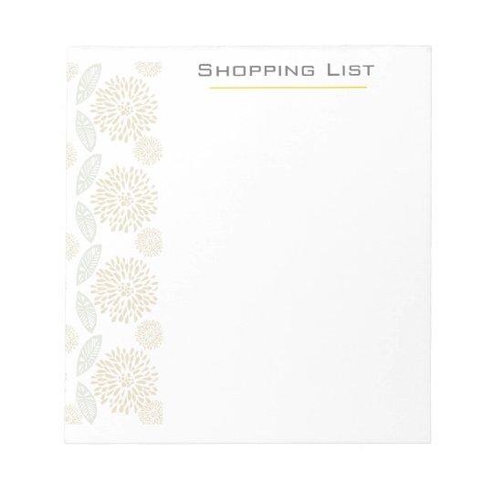 Customizable Pretty Elegant  Flowers Notepad
