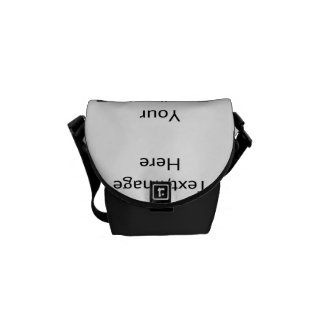 Customizable products messenger bag