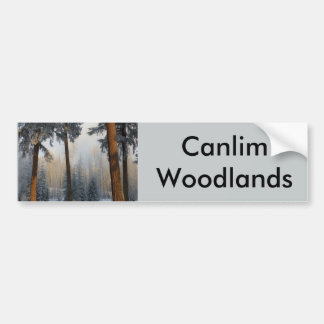 Customizable products with Canlim woodlands Bumper Sticker