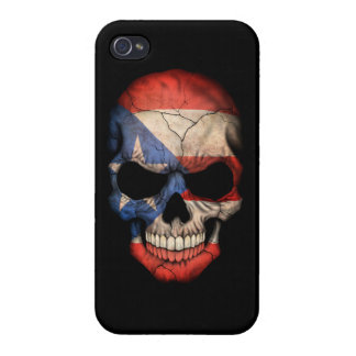Customizable Puerto Rican Flag Skull iPhone 4 Cover