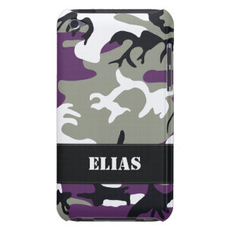 Customizable Purple Camo iPod Touch Case