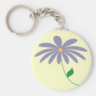 Customizable purple flower cartoon key chain