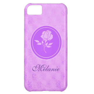 Customizable purple rose Iphone 5s case
