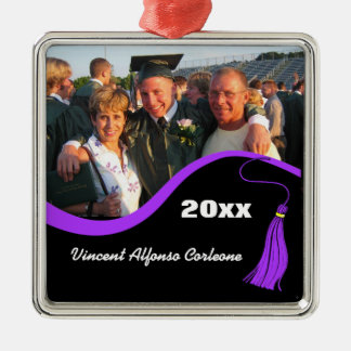 Customizable Purple Tassel Graduation Ornament