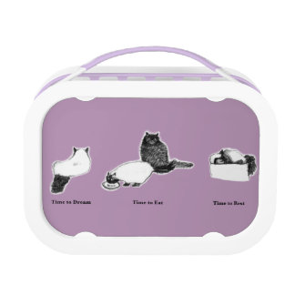 Customizable Purple yubo Lunch Box—with Cat Times Lunch Box