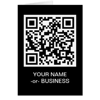 customizable QR code Card