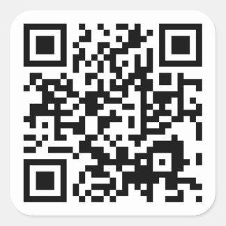 customizable QR code Square Sticker