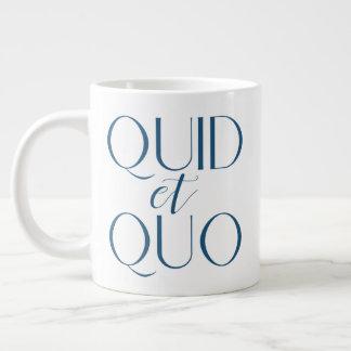 CUSTOMIZABLE Quid et Quo Classical Education Large Coffee Mug