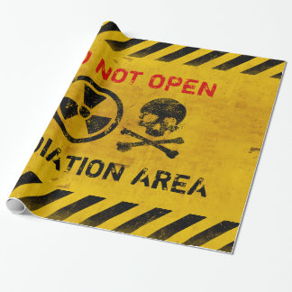 Customizable Radiation Hazard Sign Wrapping Paper