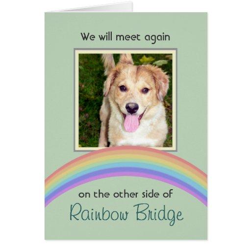 Customizable Rainbow Bridge Pet Memorial Cards