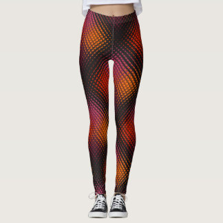 Customizable rainbow colored tiled leggings