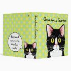 Customizable Recipe Binder Grandma's Cats