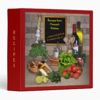 Customizable Recipes Binder