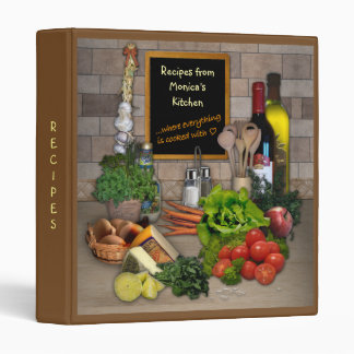 (Customizable) Recipes Binder with your Name