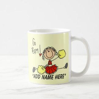 Customizable Red and Gold Cheerleader Mug