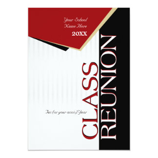 Customizable Red Class Reunion Invitation