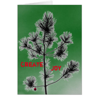 Customizable Red Ornament Christmas Tree Card