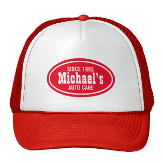 Customizable Red Western Business Promo Trucker Hat