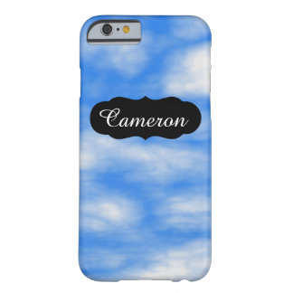 Customizable Relaxing Blue Sky Clouds iPhone 6/6s Barely There iPhone 6 Case