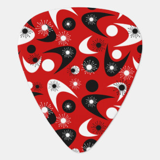 Customizable Retro Boomerangs Guitar Pick