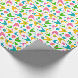 Customizable Retro Boomerangs Wrapping Paper