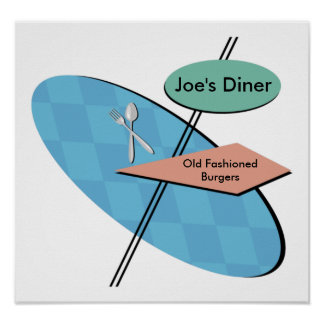 Customizable Retro Diner 50s Posters - Cool
