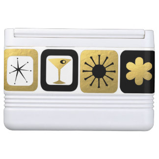 Customizable Retro Glamorous Gold Igloo Can Cooler