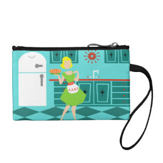 Customizable Retro Kitchen Key Coin Clutch Coin Wallets
