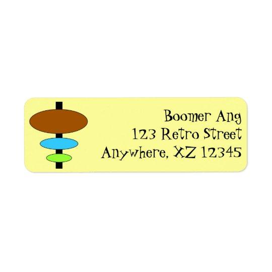 Customizable Retro Return Address Label
