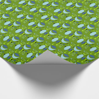Customizable Retro Shapes Wrapping Paper