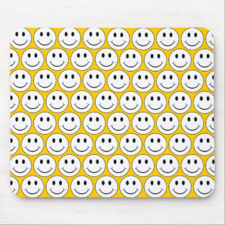 Customizable Retro Smiley Mouse Pad